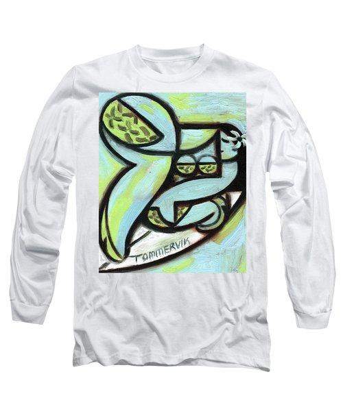 Tommervik Hawaiian Hula Surfer Art Print Long Sleeve T-Shirt