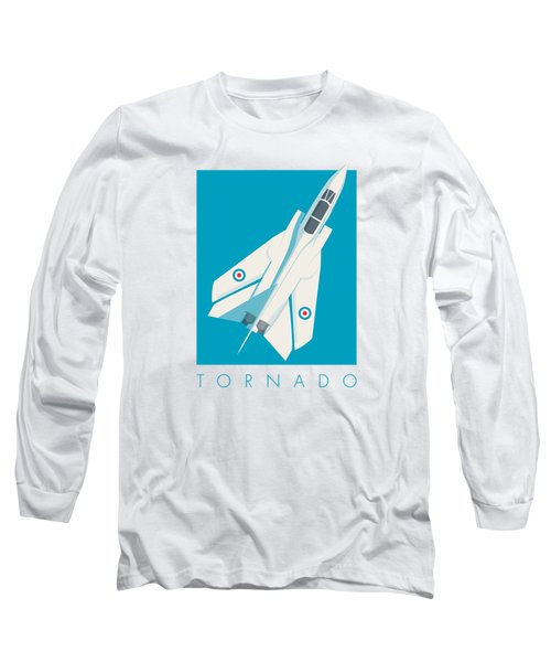 Tornado Swing Wing Jet - Cyan Long Sleeve T-Shirt
