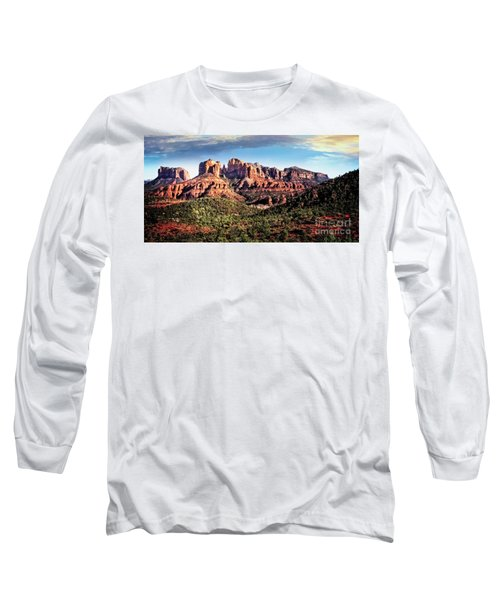 Long Sleeve T-Shirt featuring the photograph Towering Red Rocks by Scott Kemper