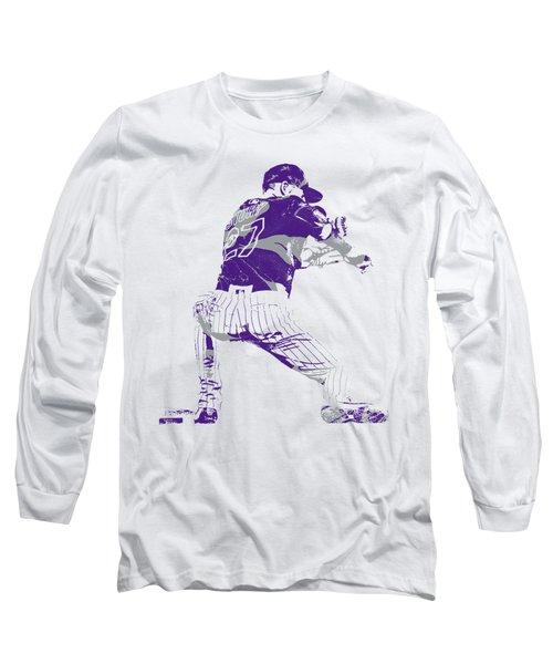 Trevor Story Colorado Rockies Pixel Art 15 Long Sleeve T-Shirt