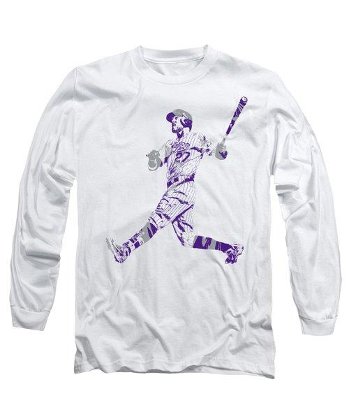 Trevor Story Colorado Rockies Pixel Art 9 Long Sleeve T-Shirt