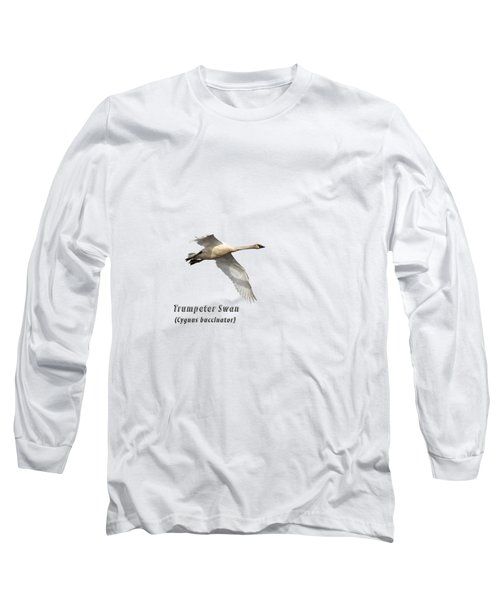Trumpeter Swan Isolated 2018-2 Long Sleeve T-Shirt