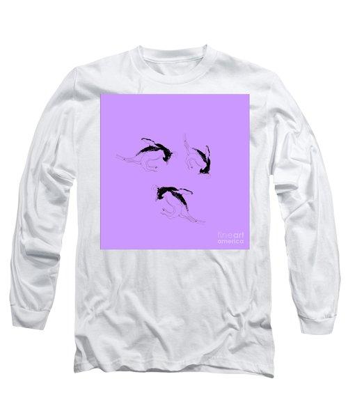 Tumbling Penguins Long Sleeve T-Shirt