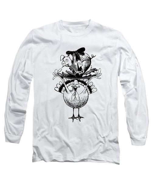 Turkey And Pig Long Sleeve T-Shirt