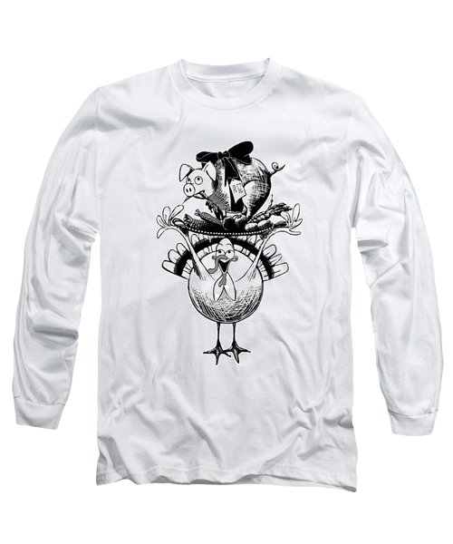 Turkey And Pig Long Sleeve T-Shirt