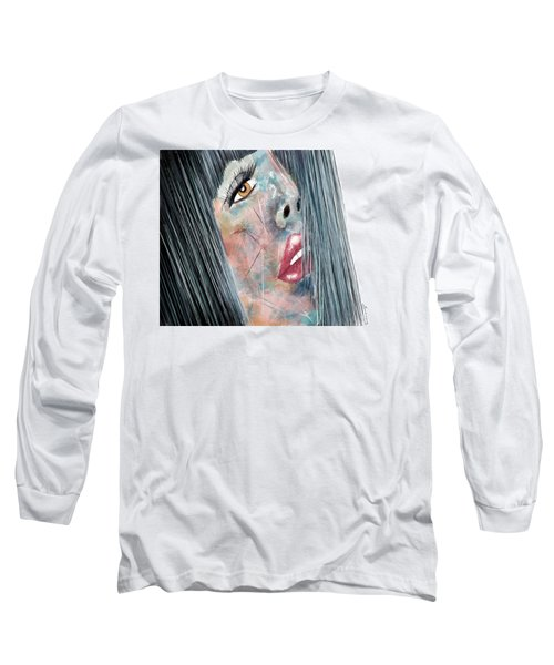 Twilight - Woman Abstract Art Long Sleeve T-Shirt