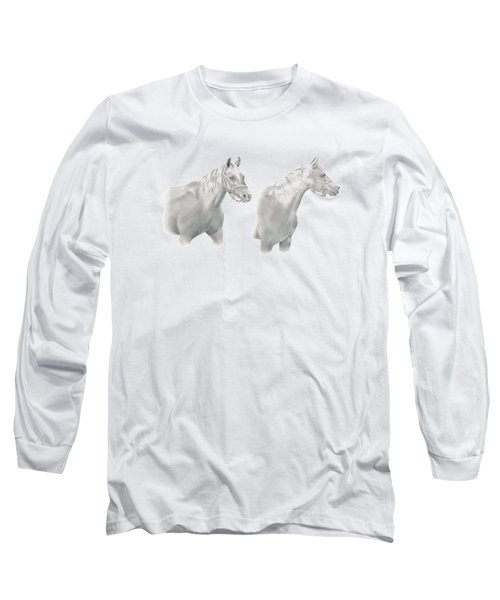 Two Horse Study Long Sleeve T-Shirt