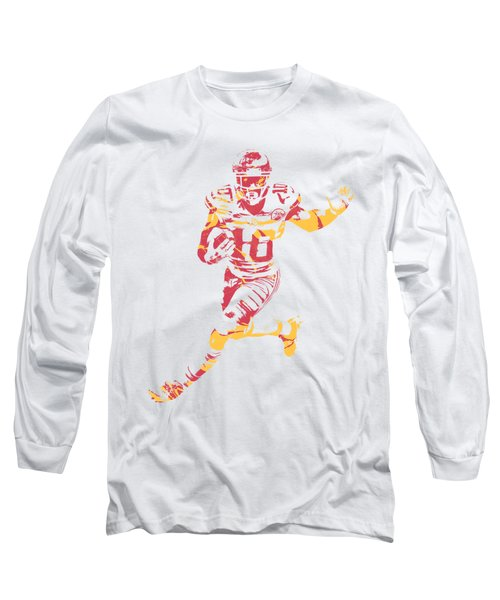 Tyreek Hill Kansas City Chiefs Apparel T Shirt Pixel Art 1 Long Sleeve T-Shirt