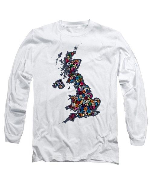 United Kingdom Map-1 Long Sleeve T-Shirt