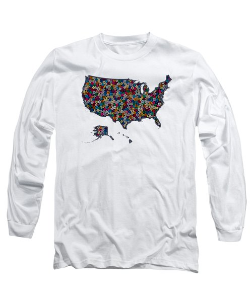 United States Map-1 Long Sleeve T-Shirt