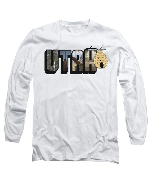 Utah The Beehive State Big Letter Long Sleeve T-Shirt