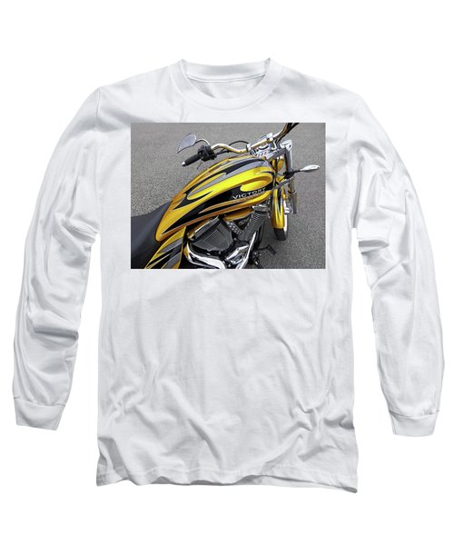 Victory Motorcycle 106 Gas Tank And V-twin Engine Long Sleeve T-Shirt