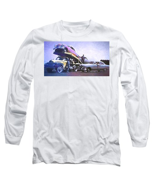 Vintage Ford Car Carrier Long Sleeve T-Shirt