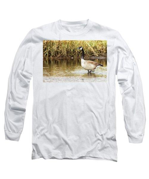 Wading Canada Goose Long Sleeve T-Shirt