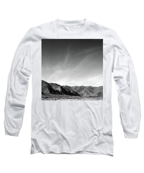 Wainui Hills Squared In Black And White Long Sleeve T-Shirt