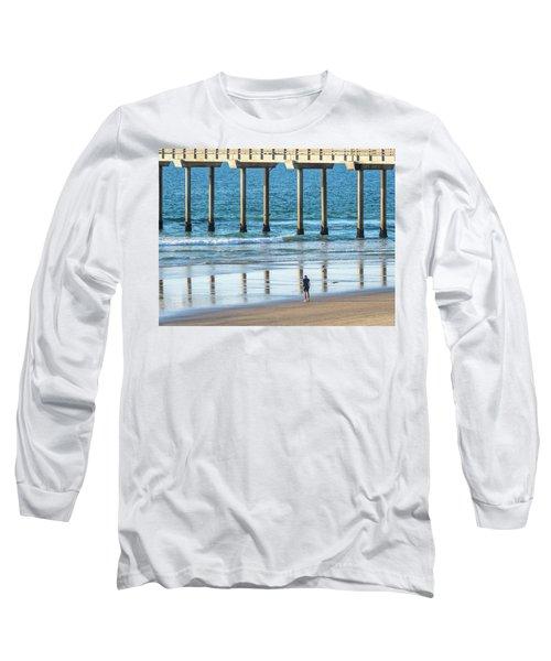 Walk To The Pier Long Sleeve T-Shirt