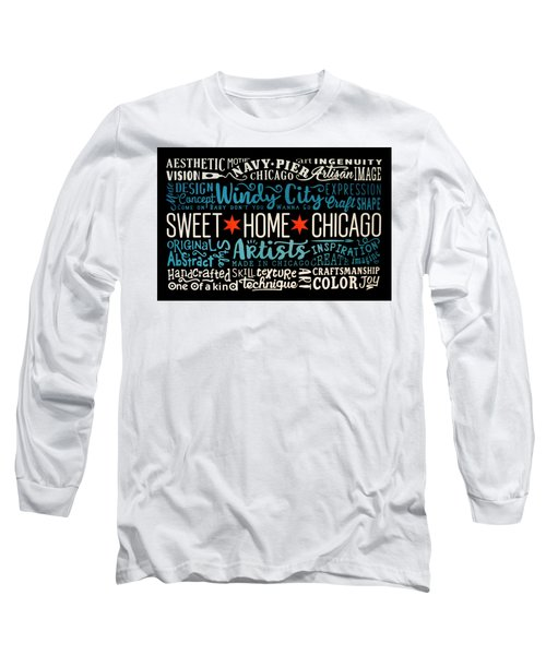 Wall Art Chicago Long Sleeve T-Shirt