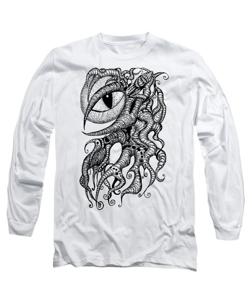 Watching Eye Creature With Tentacles Long Sleeve T-Shirt