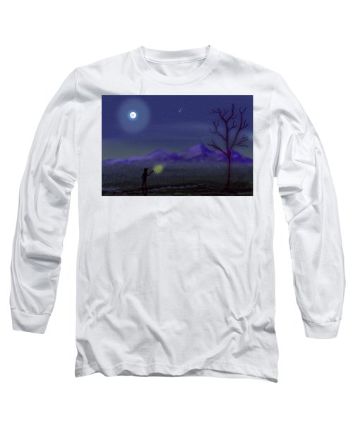 Watching Shooting Stars Long Sleeve T-Shirt