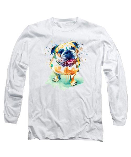 Watercolor Bulldog Long Sleeve T-Shirt