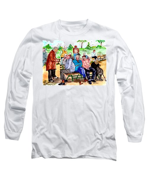 When Park Benches Were Filled With People Long Sleeve T-Shirt