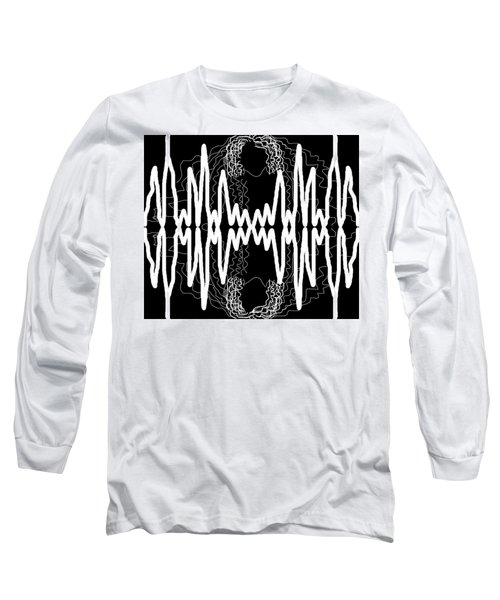 White And Black Frequency Mirror Long Sleeve T-Shirt
