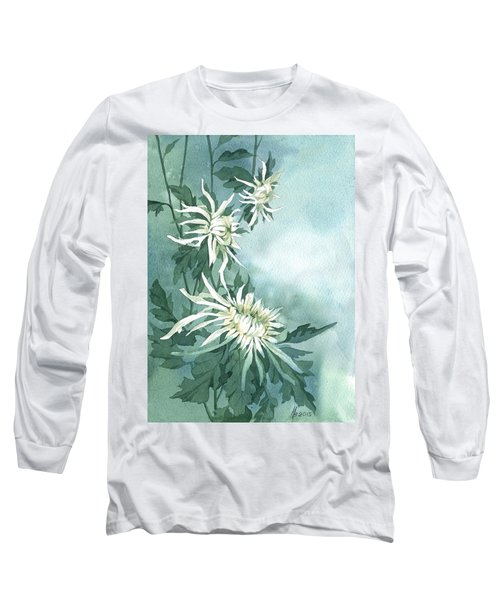 White Chrysanthemums Flowers Long Sleeve T-Shirt