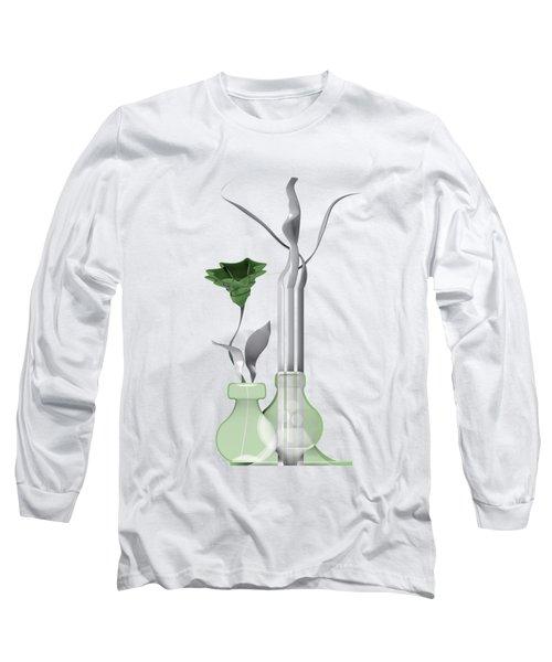 White Soft Stil Life With One Flower. Long Sleeve T-Shirt