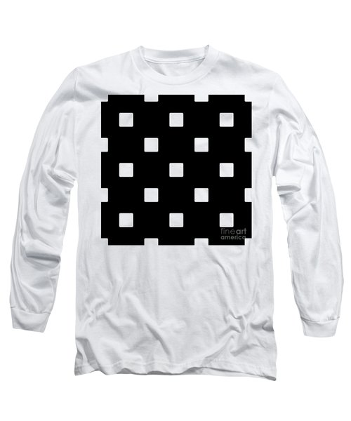 White Squares On A Black Background- Ddh576 Long Sleeve T-Shirt