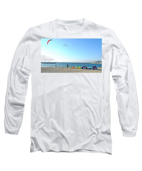 Long Sleeve T-Shirt featuring the photograph Windsurfing Marseille by August Timmermans