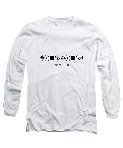 Wingdings Since 1990 - Black Long Sleeve T-Shirt