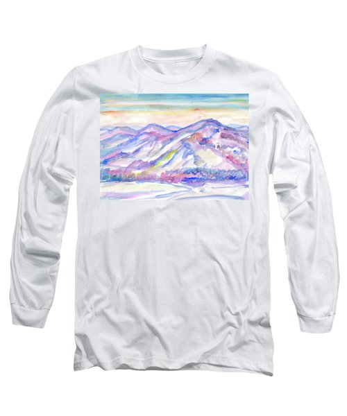 Winter Mountain Landscape Long Sleeve T-Shirt