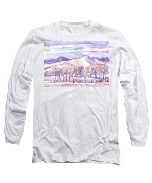 Winter Sunrise On A Frosty River Long Sleeve T-Shirt