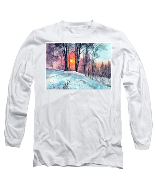 Winter Woodland In The Sun Long Sleeve T-Shirt