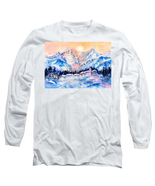 Winters Magic Light In The Swiss Alps Long Sleeve T-Shirt