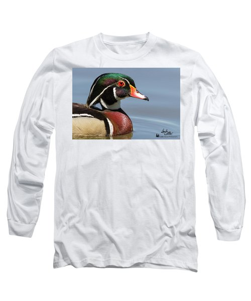 Wood Duck Portrait Long Sleeve T-Shirt