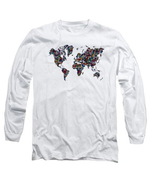 World Map-1 Long Sleeve T-Shirt