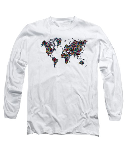 World Map-1 Long Sleeve T-Shirt