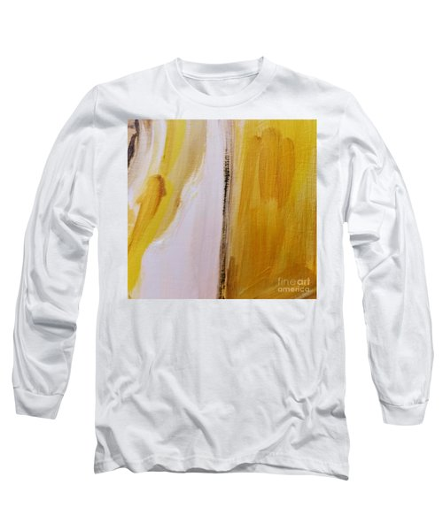 Long Sleeve T-Shirt featuring the painting Yellow #5 by Maria Langgle