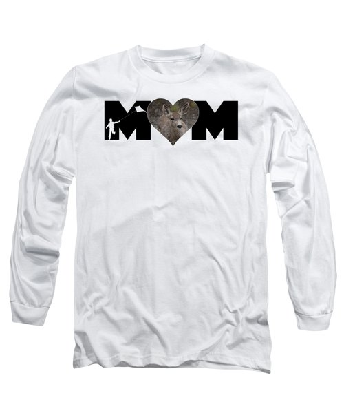 Young Doe In Heart With Little Boy Mom Big Letter Long Sleeve T-Shirt