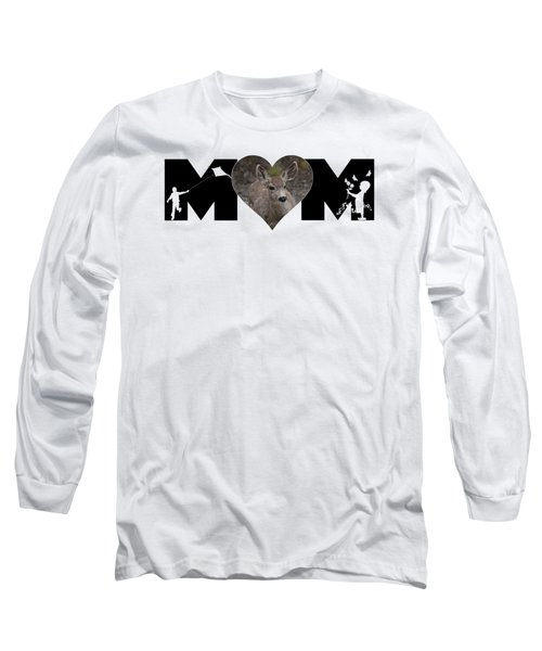 Young Doe In Heart With Little Girl And Boy Mom Big Letter Long Sleeve T-Shirt
