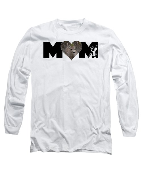 Young Doe In Heart With Little Girl Mom Big Letter Long Sleeve T-Shirt