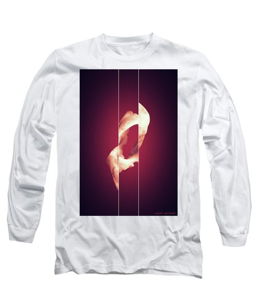 Zero - Surreal Abstract Elephant Bone Collage With Lines Long Sleeve T-Shirt
