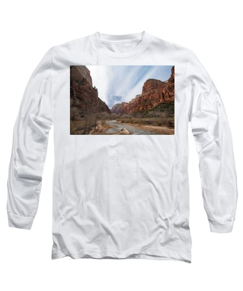 Zion National Park And Virgin River Long Sleeve T-Shirt