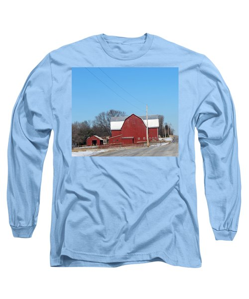 Large Red Barn Long Sleeve T-Shirt