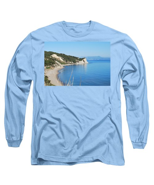 Long Sleeve T-Shirt featuring the photograph  Beach by George Katechis