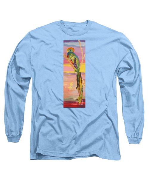 Beautiful Bird Quetzal Must Open  Long Sleeve T-Shirt by Phyllis Kaltenbach