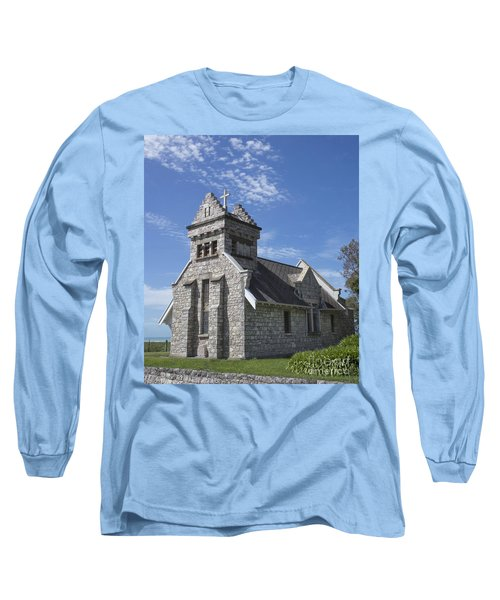 Church In New Zealand Long Sleeve T-Shirt by Loriannah Hespe