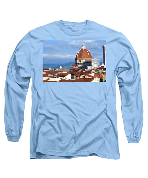 Long Sleeve T-Shirt featuring the photograph  Duomo Of Florence # 3 by Allen Beatty