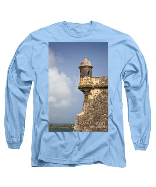 Fortified Walls And Sentry Box Of Fort San Felipe Del Morro Long Sleeve T-Shirt